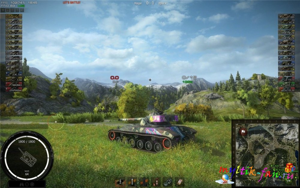 mod world of tanks на прицел
