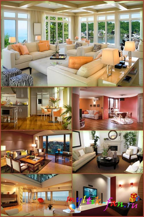 Обои дизайн интерьера комнат